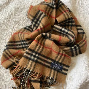 Authentic Burberry Lambswool Scarf